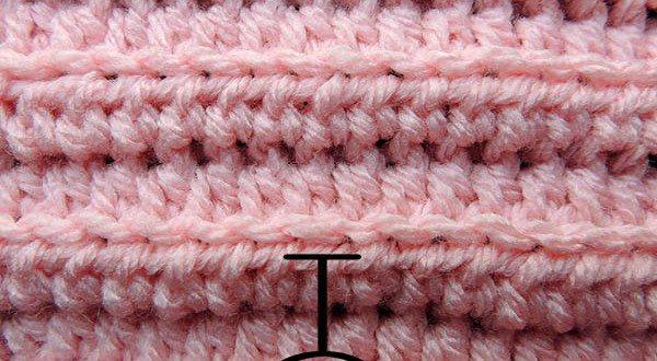 Curso Basico de Crochet | Medio Punto Alto tomando la Hebra Posterior