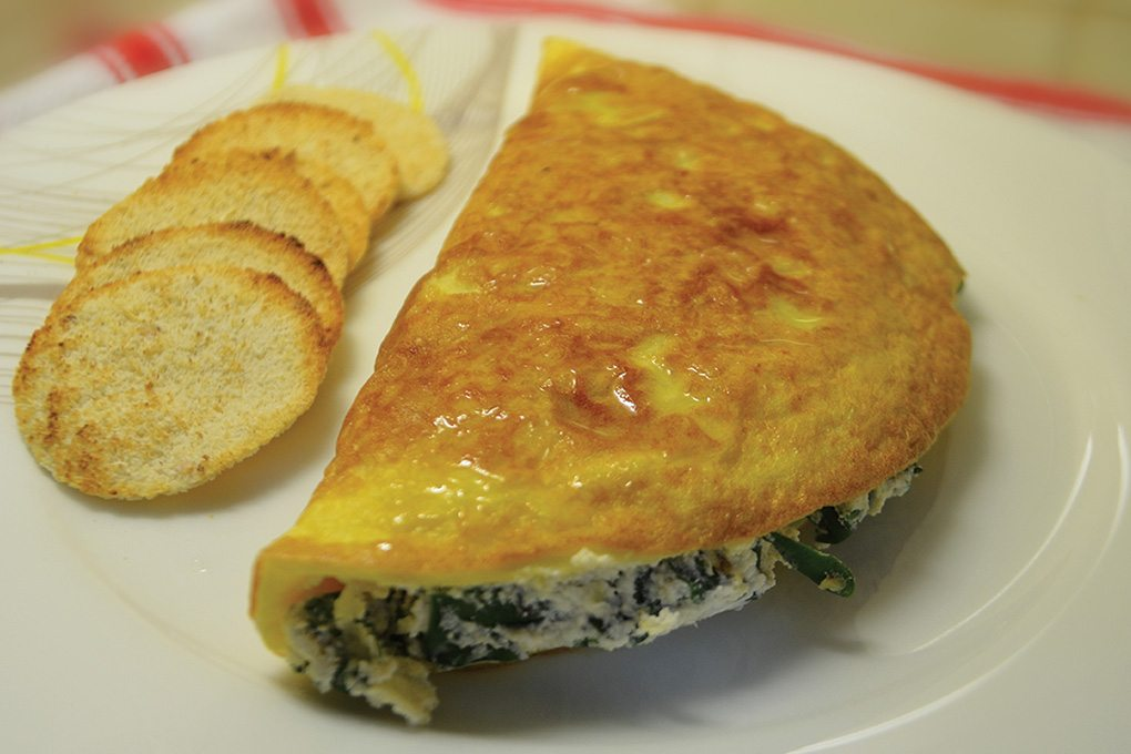 omelette-espinacas