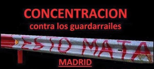 Concentración contra los Guardarrailes en Madrid