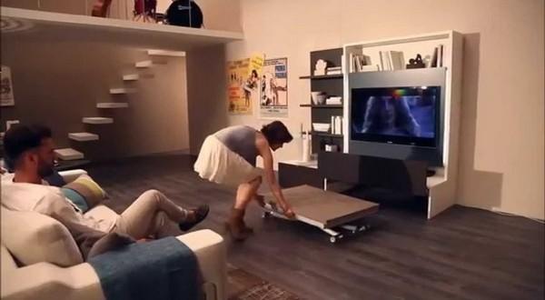 Convertir un mueble de televisión en salón comedor