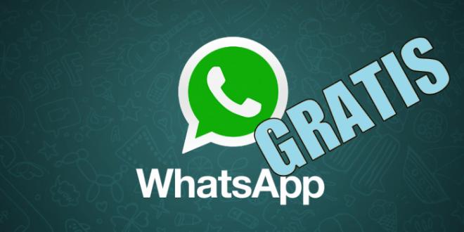 WhatsApp ahora gratis y más eficaz que nunca.