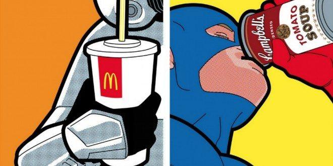 22 Ilustraciones de marcas comerciales con iconos de la cultura POP