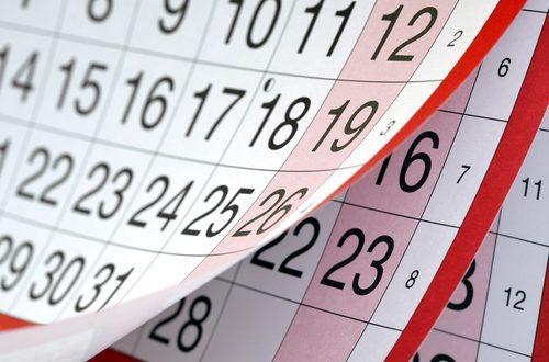 Calendario festivos en 2017